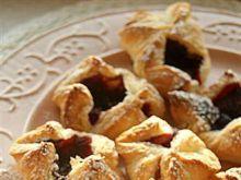 Szybkie ciasteczka z nutellą i malinami