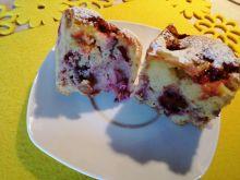 Szybkie ciasto truskawkowo - rabarbarowe