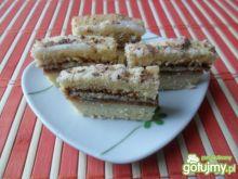 Szybkie ciasto z budyniem i powidłami