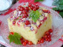 Szybkie ciasto z porzeczkowym wierzchem