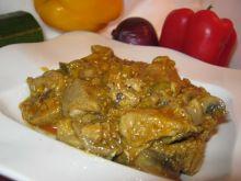 Szynka duszona w curry z cukinią