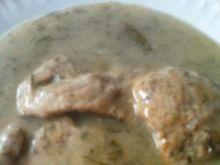Szynka w sosie koperkowo-cebulowym
