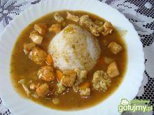 Szynka w sosie warzywnym z ryżem