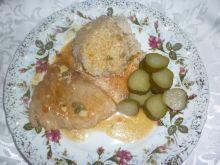 Szynka wieprzowa w sosie czosnkowo-pieprzowym