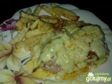 szynka z sosem serowym