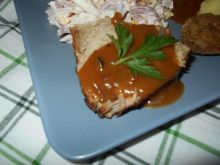 Szynka z teriyaki i sosem chili