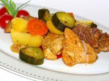 Szynka z warzywami z szybkowara