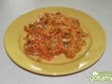 Tagiatelle szpinakowe z sosem