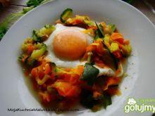 Tagliatelle warzywne z jajkiem