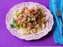 Tagliatelle z mięsem i warzywami