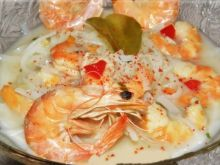 Tajska biała zupa krewetkowa