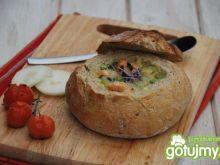 Tajska zupa z pulpecikami łososiowymi