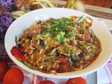 Taki inny gulasz – z ryżem i kiełbaską