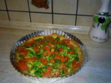 Tarta brokułowa z pomidorami