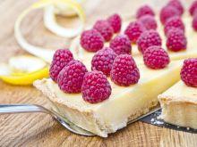 Tarta cytrynowa z malinami