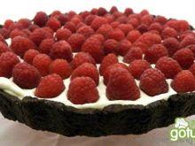 Tarta czekoladowo- malinowa