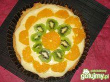 Tarta dessous z pomarańczami