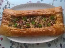 Tarta francuska z pieczarkami i papryką