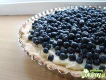 Tarta jagodowa z kremem z białej czekola
