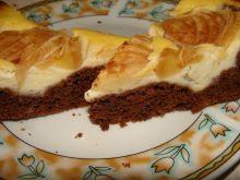 Tarta kakaowa z gruszką