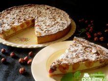 Tarta orzechowo - serowa z czereśniami