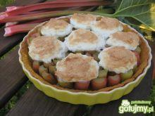 Tarta rabarbarowo-kokosowa z bezą