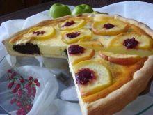 Tarta serowo-makowo-jabłkowa