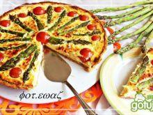 Tarta szparagowo-pomidorowa