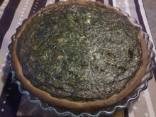 Tarta szpinakowa z mozzarellą