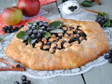 Tarta z aronią i jabłkiem pieczona bez formy