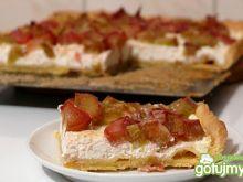 Tarta z białym serem i rabarbarem