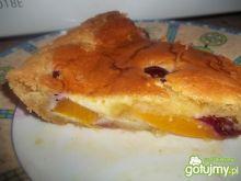 Tarta z brzoskwiniami i wiśniami