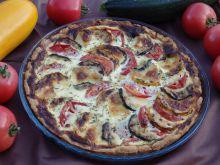 Tarta z cukinią, pomidorami i mozzarellą