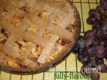 Tarta z jabłkami na  kasztanowej mące
