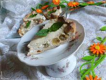Tarta z kokosowym jogurtem i agrestem w wersji fit