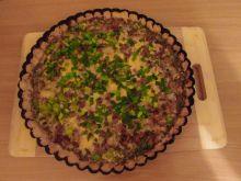 Tarta z kurkami i gorgonzolą