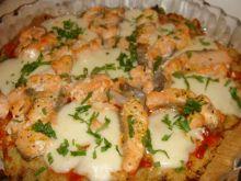Tarta z łososiem i mozzarellą