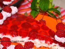 Tarta z malinami i kremem mascarpone
