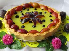Tarta z masą kisielową i owocami