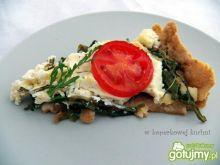 Tarta z rukolą i białym serem
