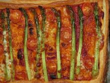 Tarta ze szparagami i mozzarellą