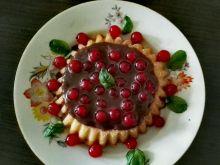 Tarteletki z frużeliną i ganache z czekolady