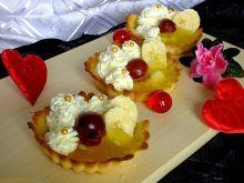 Tartaletki z kremem mascarpone, kisielem i owocami