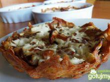 Tartelinki z kurkami i kozim serem