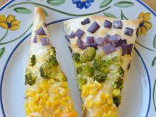 Tęczowa pizza z warzywami