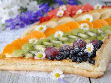 Tęczowo- owocowa tarta