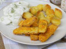 Tofu panierowane w płatkach kukurydzianych