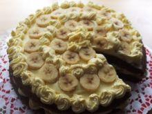 Torcik ajerkoniakowo-bananowy