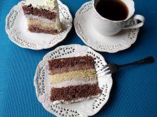 Torcik czekoladowo-waniliowy