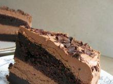 Torcik czekoladowy z musem czekoladowym